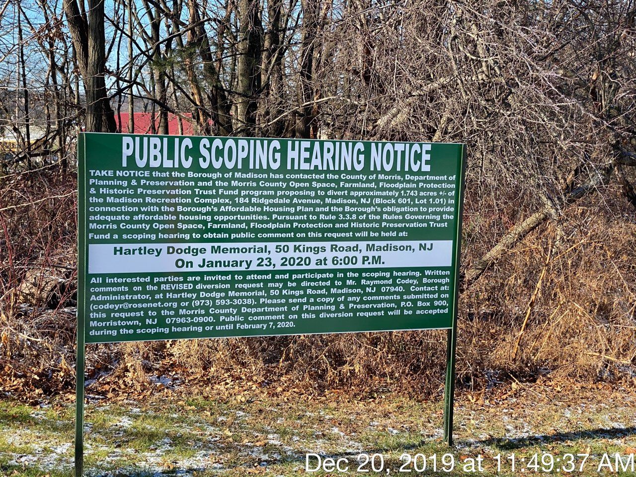Public Scoping Hearing Sign
